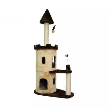 Brinquedo Arranhador São Pet Castle para Gatos Bege